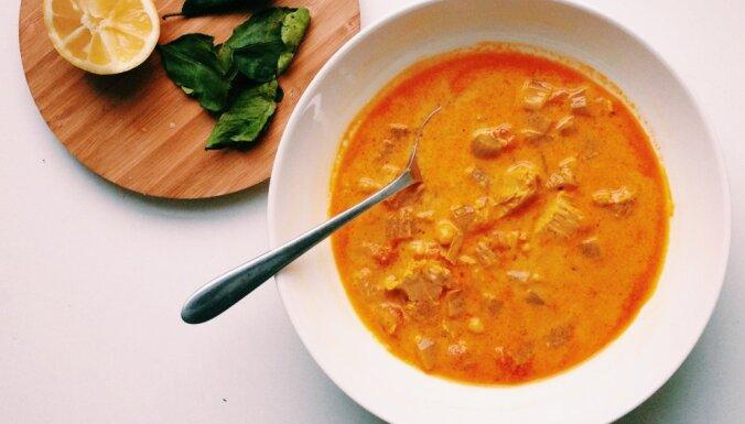 Быстрый суп из тунца с турецким горохом