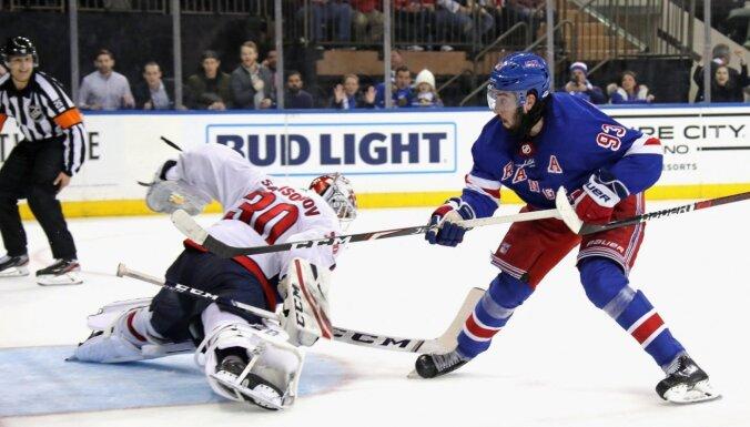 'Rangers' hokejists Zibanejads NHL mačā gūst piecus vārtus
