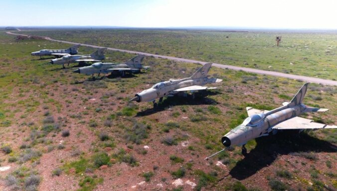 Sīrijas nemiernieki notriekuši valdības spēku kaujas lidmašīnu