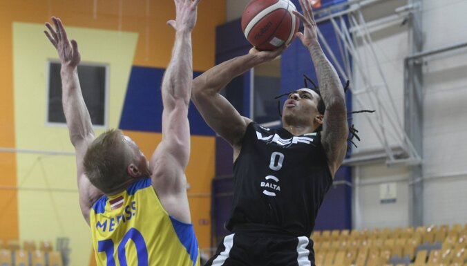 Latvijas klubu basketbola klasikā 'VEF Rīga' pieveic 'Ventspili'