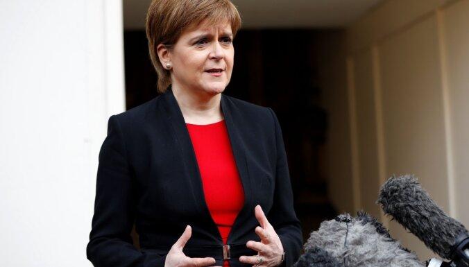 Skotijas līdere paziņo par jauna neatkarības referenduma rīkošanu līdz 2021.gadam