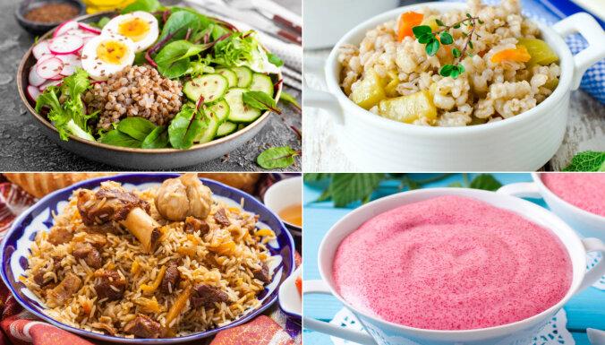 Griķi, rīsi, grūbas un manna: lērums recepšu no ilgi uzglabājamiem graudaugiem