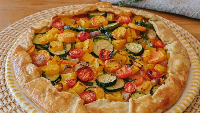 Sāļais pīrāgs – tarte ar dārzeņiem