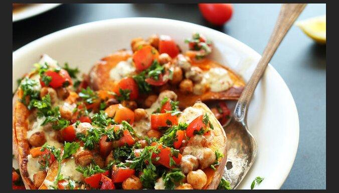Запеченый сладкий картофель по-средиземноморски