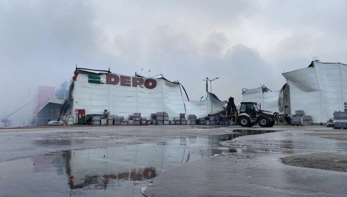 Pēc nedēļas izdevies likvidēt ugunsgrēku Rēzeknes veikalā 'Depo'