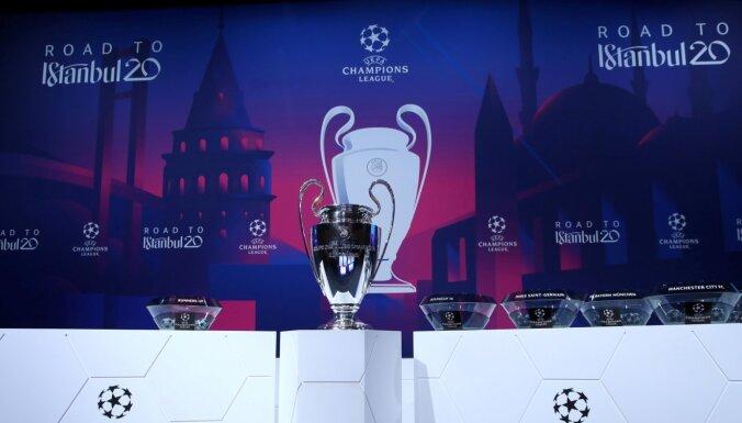 UEFA lēmusi atlikt klubu turnīru finālus