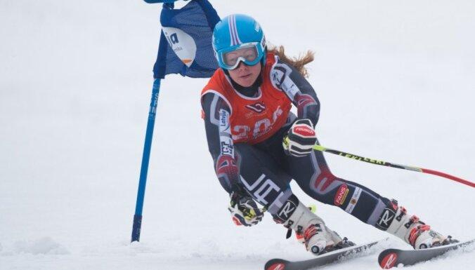 Kalnu slēpotāji Gasūna un Gedra uzvar Latvijas kausa posma slaloma sacensībās
