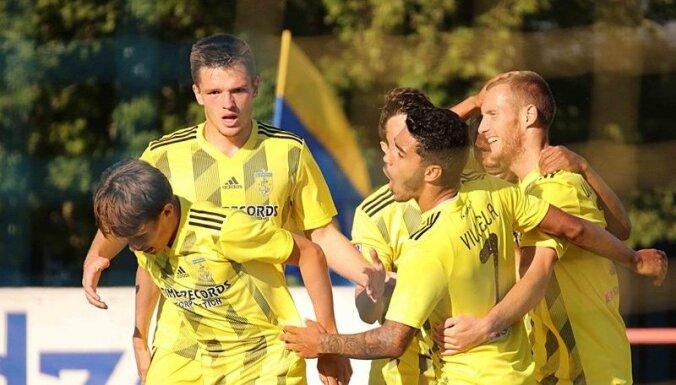 'Ventspils' liedz 'Riga' svinēt uzvaru čempionātā; vismaz sudrabu nodrošina RFS