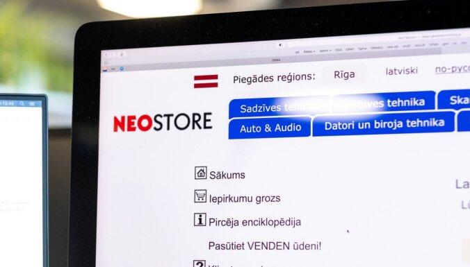Apturēta interneta veikala 'Neostore' saimnieciskā darbība
