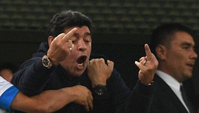 ФИФА отказалась от сотрудничества с Марадоной из-за его поведения на ЧМ-2018