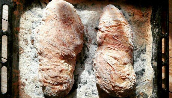 Vienkāršā čabatas maize bez mīcīšanas