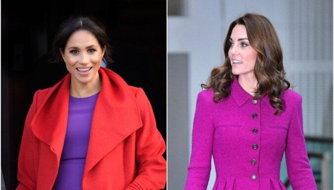 ФОТО: Битва герцогинь - жены принцев Кейт и Меган соревнуются в элегантности