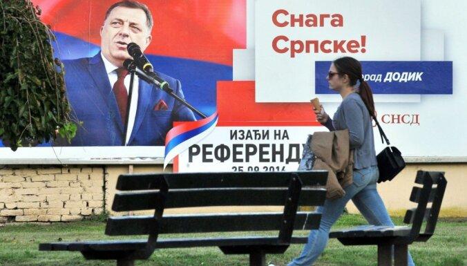 Bosnijas serbi referendumā atbalsta 9. janvāra pasludināšanu par nacionālo dienu