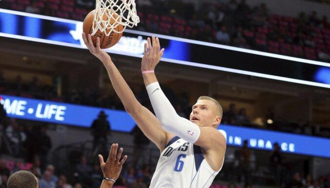 Bertānam un Porziņģim labi spēles laiki NBA pārbaudes mačos