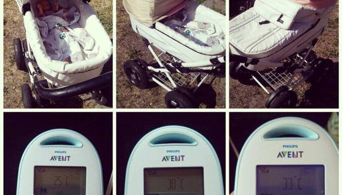 Мама провела эксперимент и наглядно показала, насколько опасно закрывать коляску в жару