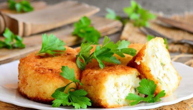 Čaganās olu–kartupeļu kotletes
