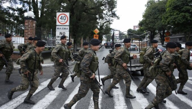 Gvatemalas armija izbeidz patrulēšanu ielās