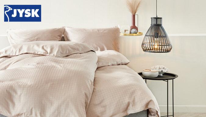 'JYSK' iesaka: Top 3 rudens tendences tavā guļamistabā