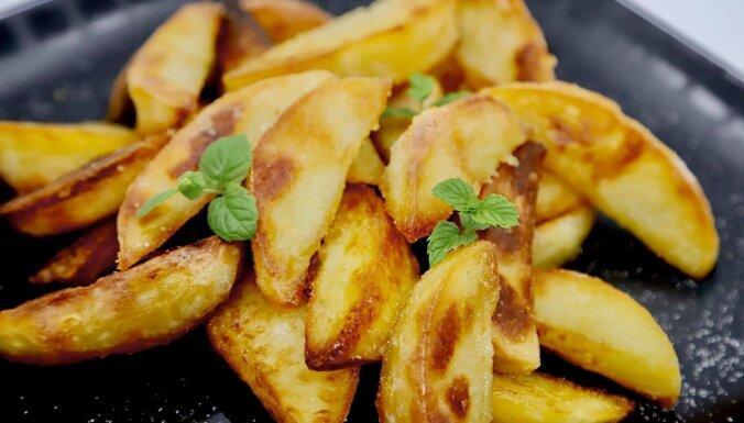 Kraukšķīgas kartupeļu daiviņas