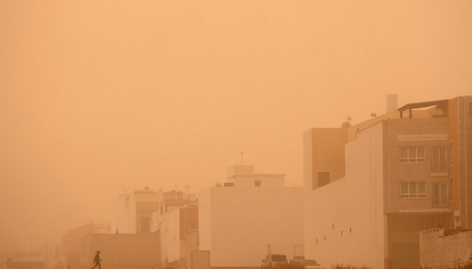 Канарские острова накрыла песчаная буря из Сахары