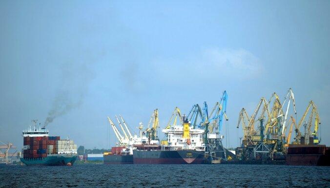 В портах Латвии в январе было перевалено на 28,8% меньше грузов