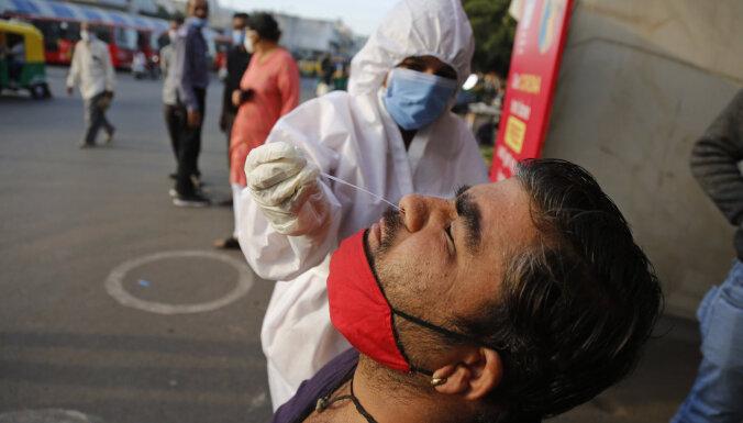 Covid-19: Indijā inficēto skaits pārsniedz desmit miljonus