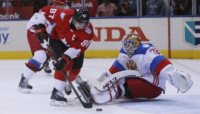 Canada Sidney Crosby scores Russia Sergei Bobrovsky