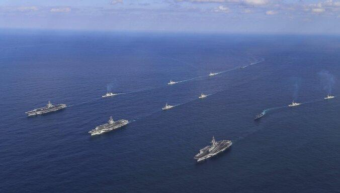 Pentagons atkāpies no Trampa 500 karakuģu flotes plāna