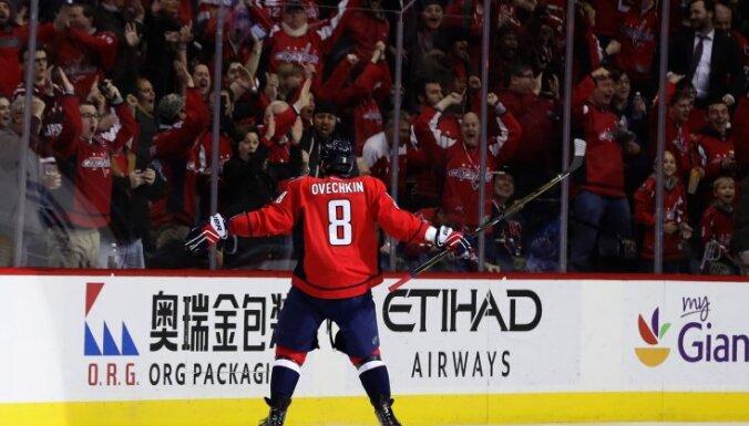 Alex Ovechkin Washington Capitals celebrates 1000th career point