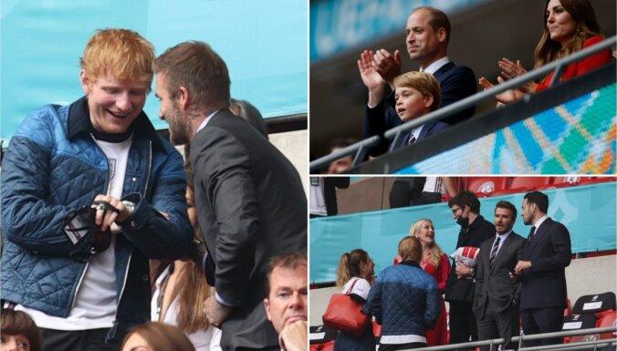Foto: Kā britu augstākā sabiedrība VIP ložā baudīja Anglijas-Vācijas maču
