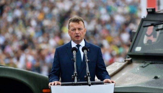 Polijas aizsardzības ministrs: ASV armijas bāze Polijā ir 'ļoti iespējama'