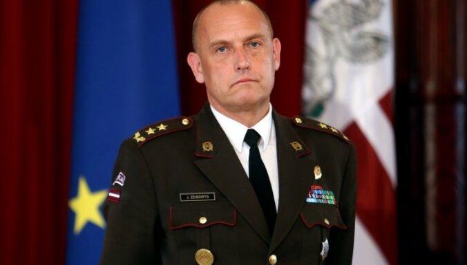 NBS Apvienotā štāba priekšnieks Zeibārts kļūs par Latvijas militāro pārstāvi NATO un ES