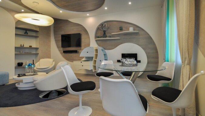 ФОТО. Наше будущее? Квартира в центре Риги, интерьер которой похож на космический корабль