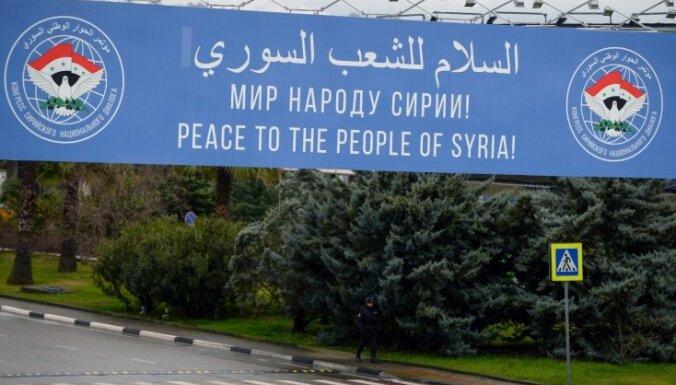 Sočos sācies plaši boikotētais Sīrijas miera kongress