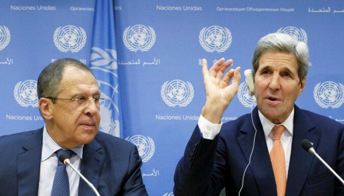 Ar ASV panāktas jaunas vienošanās teroristu apkarošanai Sīrijā, apgalvo Lavrovs