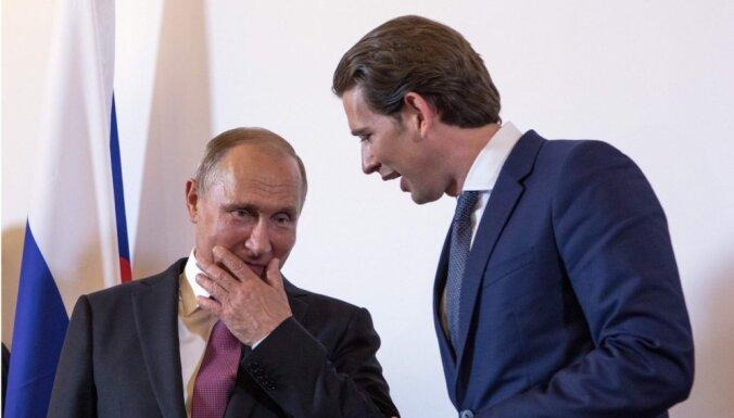 СМИ: Путин просил Курца организовать встречу с Трампом в Вене