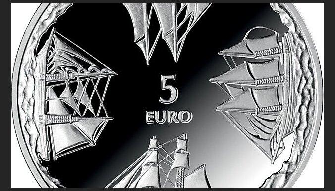Foto: Izdod pirmo Latvijas eiro kolekcijas monētu