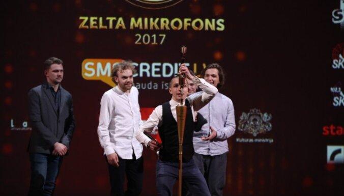Pasniegti 'Zelta mikrofoni'. Gada labākais albums – grupai 'Carnival Youth'