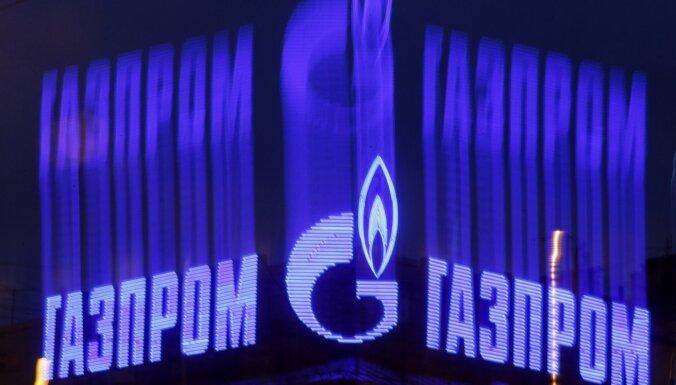 'Gazprom' peļņa pirmajā ceturksnī sarukusi deviņas reizes
