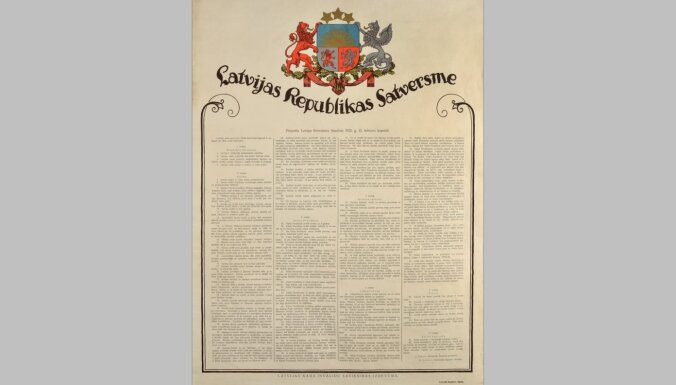 Latvijas valsts pamatakmeņu likšana. Satversmes sapulcei – 100