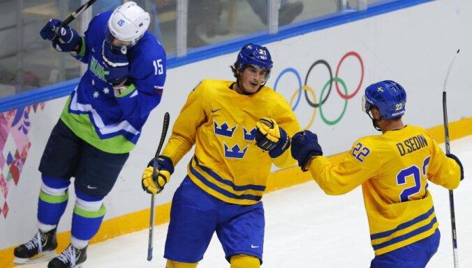 Шведы разгромили словенцев и первыми вышли в полуфинал