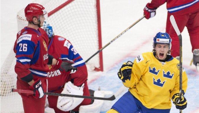 Хоккеисты России заняли последнее место на Шведских играх