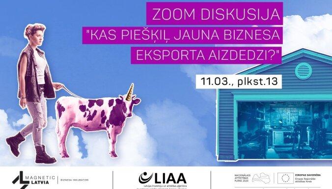 LIAA: ielūgums uz kampaņas 'Izaudzē savu vienradzi!' otro diskusiju – kā attīstīt jauna biznesa eksporta iespējas. Ieraksts.