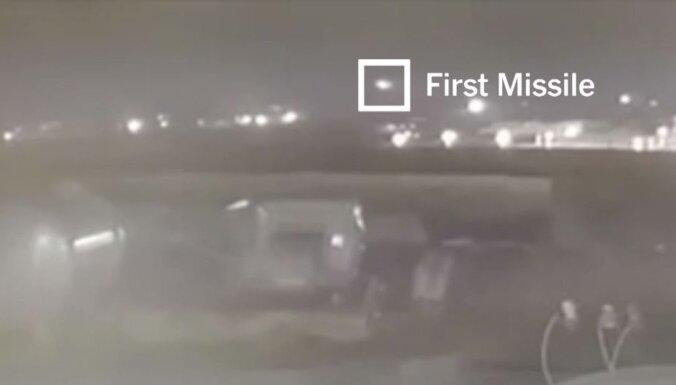 Aviokatastrofa Irānā: Jaunā video redzams, kā Ukrainas lidmašīnu notriec divas raķetes