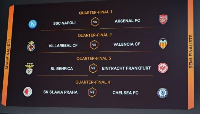 Noskaidroti arī UEFA Eiropas līgas ceturtdaļfināla pāri