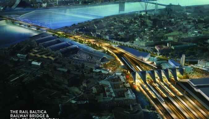 Par 'Rail Baltica' Rīgas stacijas būvdarbiem konkurēs divas starptautiskas apvienības