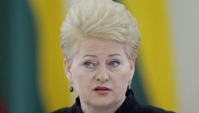 Grībauskaite: ne visa mūsu palīdzība Ukrainai ir publiski apspriežama