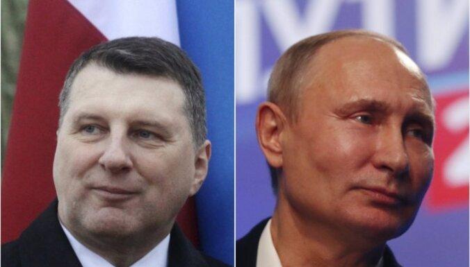 Vējonis apsveikumu Putinam sūtījis, lai nodrošinātu sev kapitālu prezidenta vēlēšanās, lēš eksperts