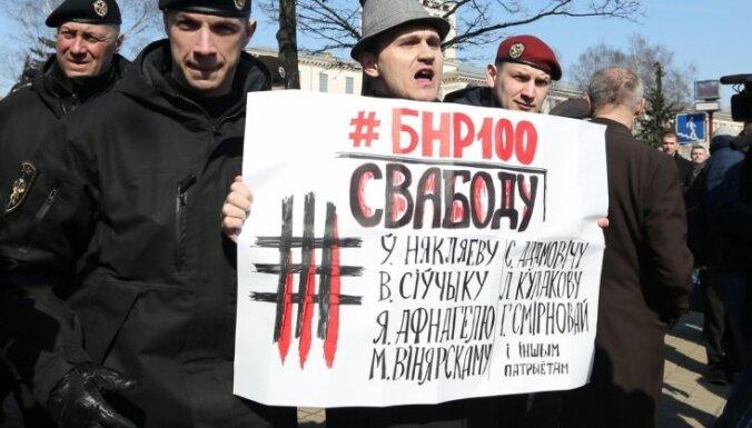 Foto: Baltkrievijas simtgades svinībās Minskā aizturēti desmitiem protestētāju