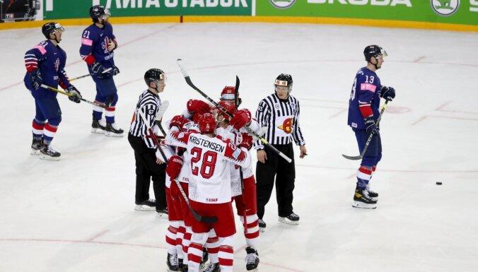 Pārsteiguma autore Dānija vien papildlaikā izrauj uzvaru pret Lielbritānijas hokejistiem